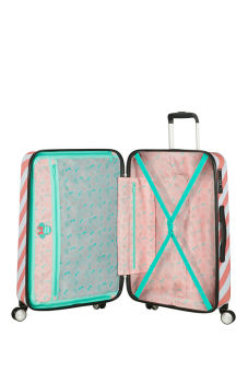 Interior -Mala de Viagem 67cm c/ 4 Rodas Minnie Miami Holiday - Funlight Disney | American Tourister