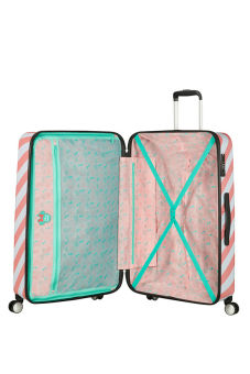 Interior - Mala de Viagem 77cm c/ 4 Rodas Minnie Miami Holiday - Funlight | American Tourister