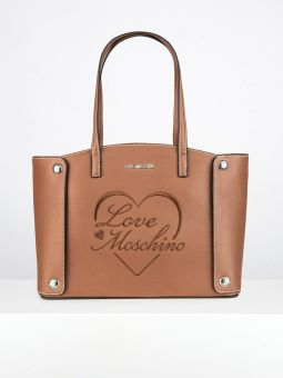 Bolsa Shopper Feminina Camel | Love Moschino | Rolling Luggage