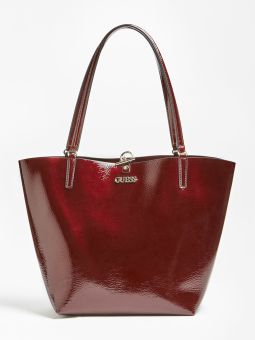 Alby Bolsa Shopper de Senhora Bordô | Guess | Rolling Luggage