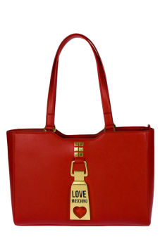 Bolsa Shopper de Senhora Vermelha | Love Moschino | Rolling Luggage